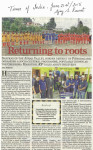 Returning to Roots : Times of India, June 21 2015